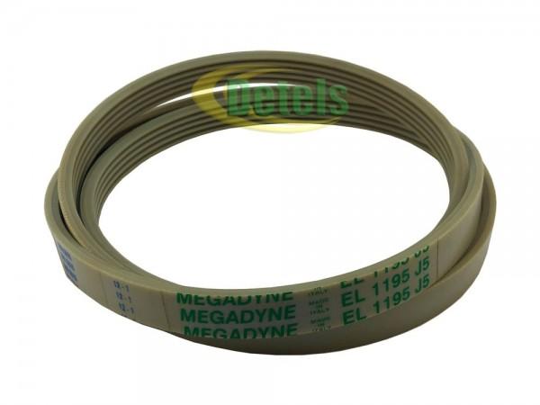 Ремень Megadyne 5PJE 1195 140002231011 для стиральной машины Zanussi, Electrolux, AEG (A00223101)