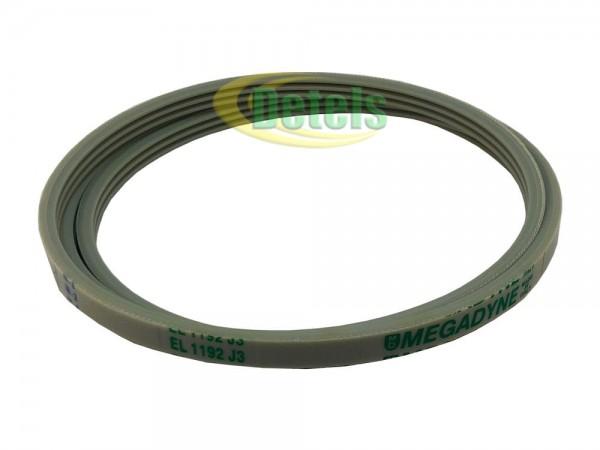 Ремень Megadyne EL 1192 J3 / 1192J3 263236 для стиральной машины Bosch, Siemens, Whirlpool, Indesit (481935818155)