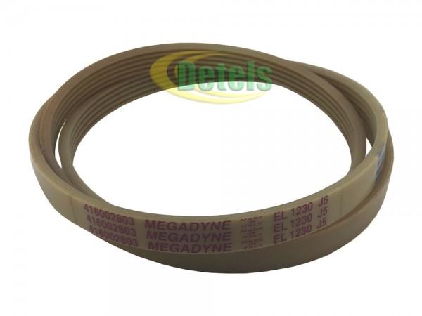 Ремень Megadyne EL 1230 J5 416002803 для стиральной машины Ardo (416002800)