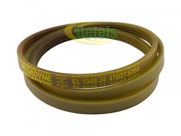 Ремень Megadyne EL 1049 J4 36173400 для стиральной машины Siltal, Ariston, Indesit (116LG123)