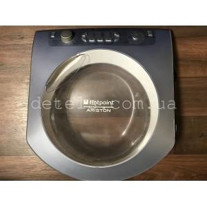 Люк (дверца) в сборе с модулем индикации Ariston Aqualtis C00143343 для стиральной машины (б/у)