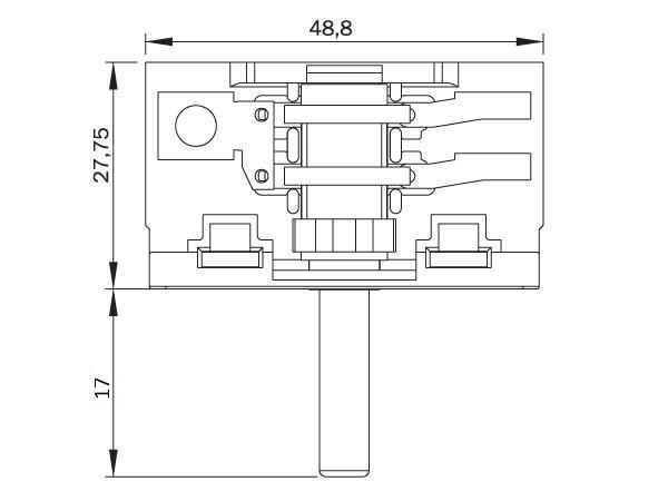 Переключатель режимов для духовки Asel, Saturn (AC2.T01.201 A)