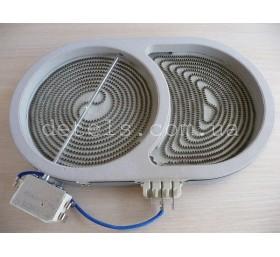 Конфорка (тэн) стеклокерамической плиты Whirlpool 1800/1000W 165 мм (46196152018..