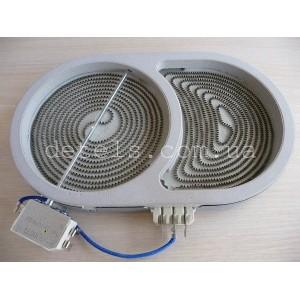 Конфорка (тэн) стеклокерамической плиты Whirlpool 1800/1000W 165 мм (461961520181)