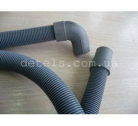 Шланг сливной для стиральной машины с угловым подсоединением 20 мм, длина 2 м
