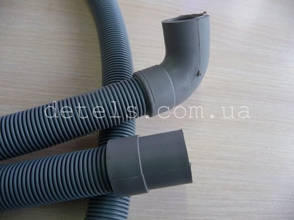 Шланг сливной для стиральной машины с угловым подсоединением 20 мм, длина 3 метра