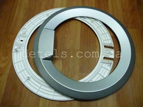 Обечайка люка стиральной машины Атлант (MKAY711141003) цвет серебро