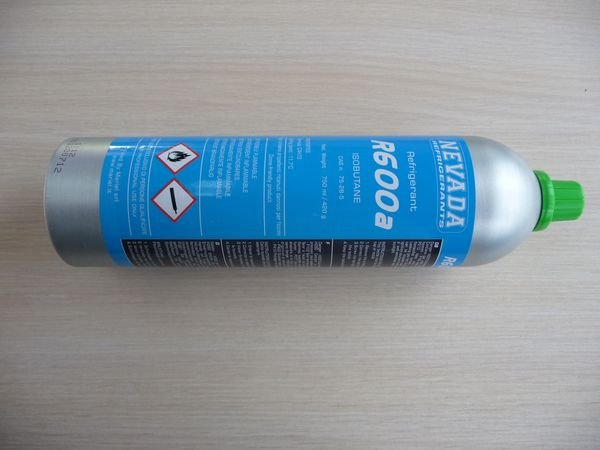 Хладагент (фреон) для холодильника, емкость 750 мл/420 грамм (R600a)