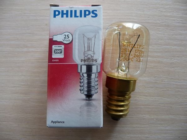 Лампочка для духовых и микроволновых печей E14, 25 W, 300°C