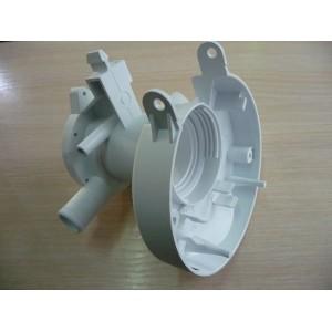 Корпус (улитка) сливного насоса для стиральной машины Gorenje нового типа с трубкой перелива (169185)