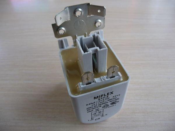 Фильтр помехоподавляющий (радиофильтр) X17-3 для стиральной машины Whirlpool, Zanussi, Hansa (481212118285)