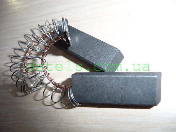 Щетки двигателя для стиральной машины Zanussi, AEG (6x12,5x31 мм с пружиной)