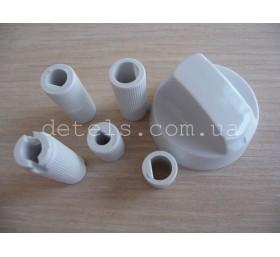 Ручка для кухонной (газовой) плиты белая, универсальная с комплектом переходнико..
