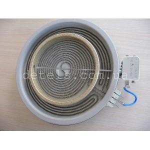 Конфорка 2200/1000W 230 мм для стеклокерамической плиты Indesit, Ariston (C00089645)