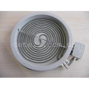Конфорка (ТЭН) EIKA для стеклокерамической поверхности электроплиты Indesit, Ariston 1400W, d = 180 мм (С00259729)