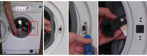 как починить ручку стиральной машины